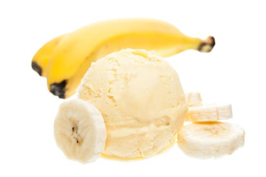 Bananen-Eiscreme ohne Zucker oder Sahne