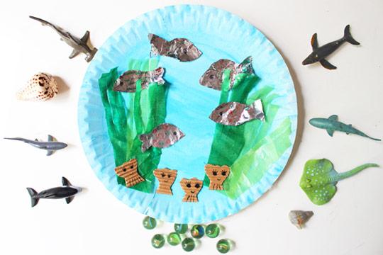 Basteln Mit Kleinkindern Aquarium Bilder Familie De