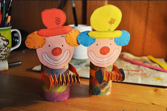 Basteln Mit Kleinkindern Clowns Bilder Familie De