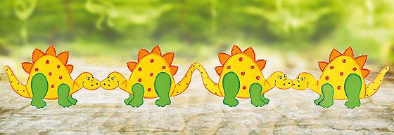 Basteln Mit Papier Dinos Familie De