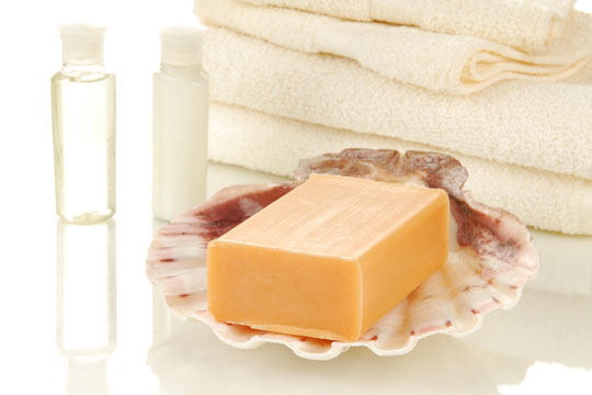 Basteln mit Muscheln: Seifenschale