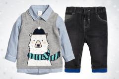 Hemd und Pullunder von H&M
