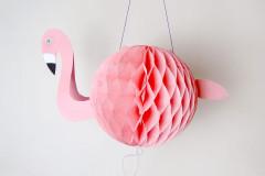 Coole Flamingo-Laterne für den Laternenumzug