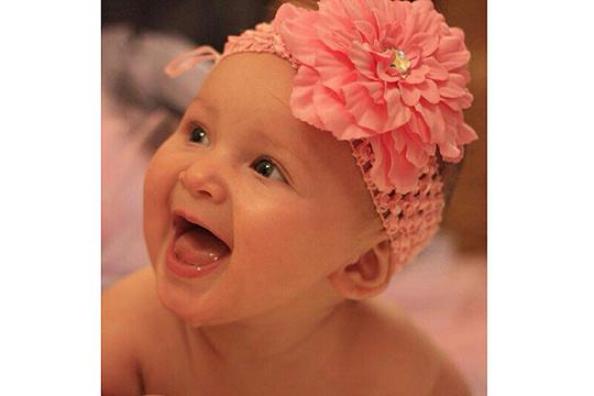Babyfoto-Wettbewerb - 7. Platz im Januar: Leah