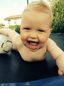 Babyfoto-Wettbewerb: 1. Platz im Juli 2014: Mathilda