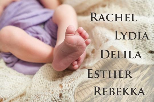 Vornamen aus der Bibel für Mädchen
