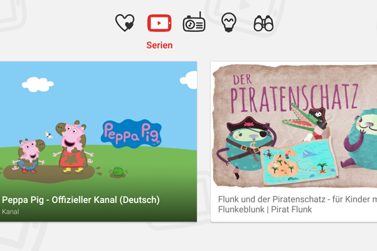 YouTube Kids für Kinder