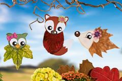 Blättertiere basteln