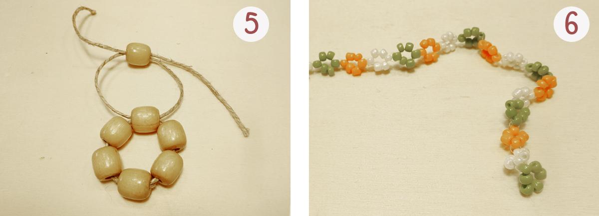 Blümchen-Armband: Schritt 5 und 6