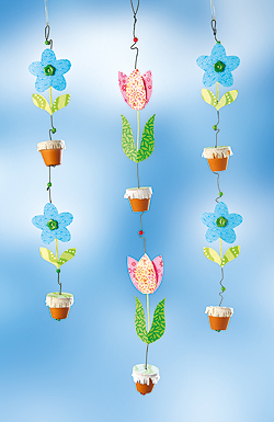 Blumenketten Furs Fenster Basteln Familie De