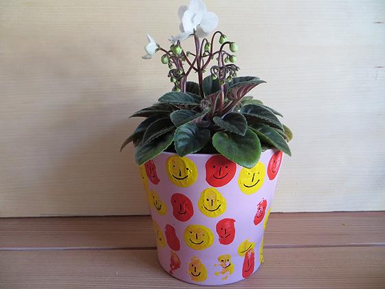 Stempeln mit Korken Blumentopf