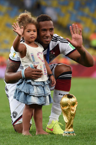 Boateng und seine Tochter - WM 2014