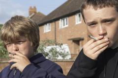 Beim Rauchen erwischt