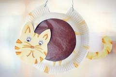 Katzen-Laterne basteln