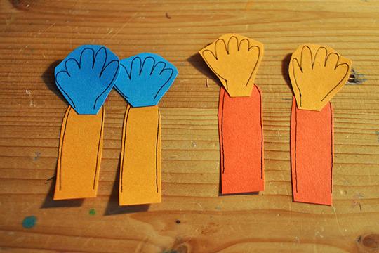 Hände für den Clown
