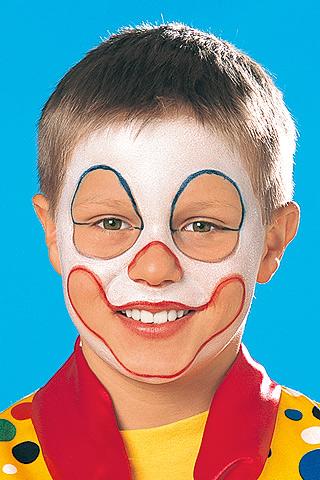 clown schminken schritt 2 bilder. Black Bedroom Furniture Sets. Home Design Ideas