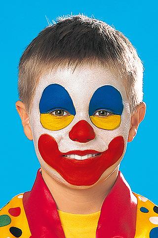 clown schminken schritt 3 bilder. Black Bedroom Furniture Sets. Home Design Ideas