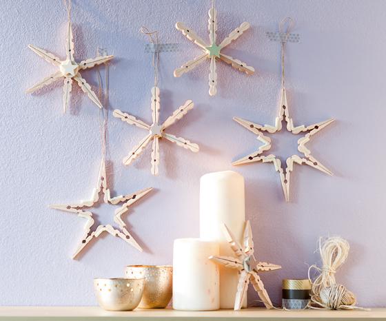 Zauberhafte Deko Sterne Aus Wäscheklammern Zaubern Familiede