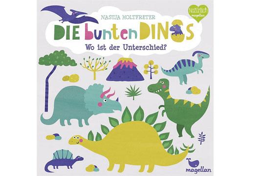 Buchtipp: Die bunten Dinos – Wo ist der Unterschied?