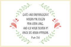 Taufspruch Psalm 23,6