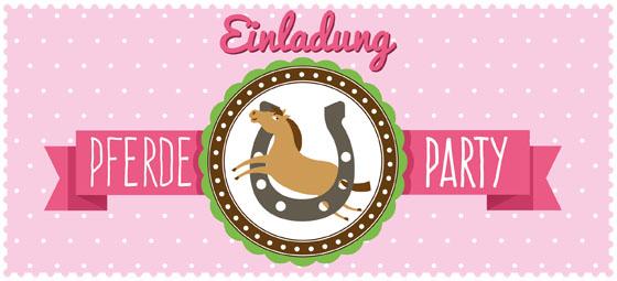 Pferdegeburtstag Party Rund Um Pferde Und Ponys Familie De