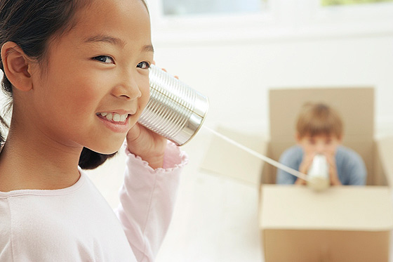 Experimente im Kindergarten: Dosentelefon