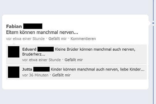 Facebook-Fettnäpfchen: Eltern können nerven