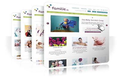 Die neue familie.de-Website