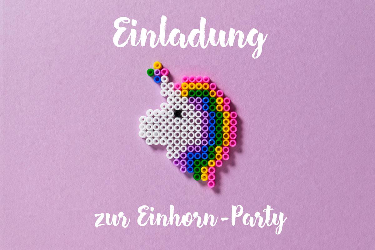 Einladung Zur Einhorn Party Familie De