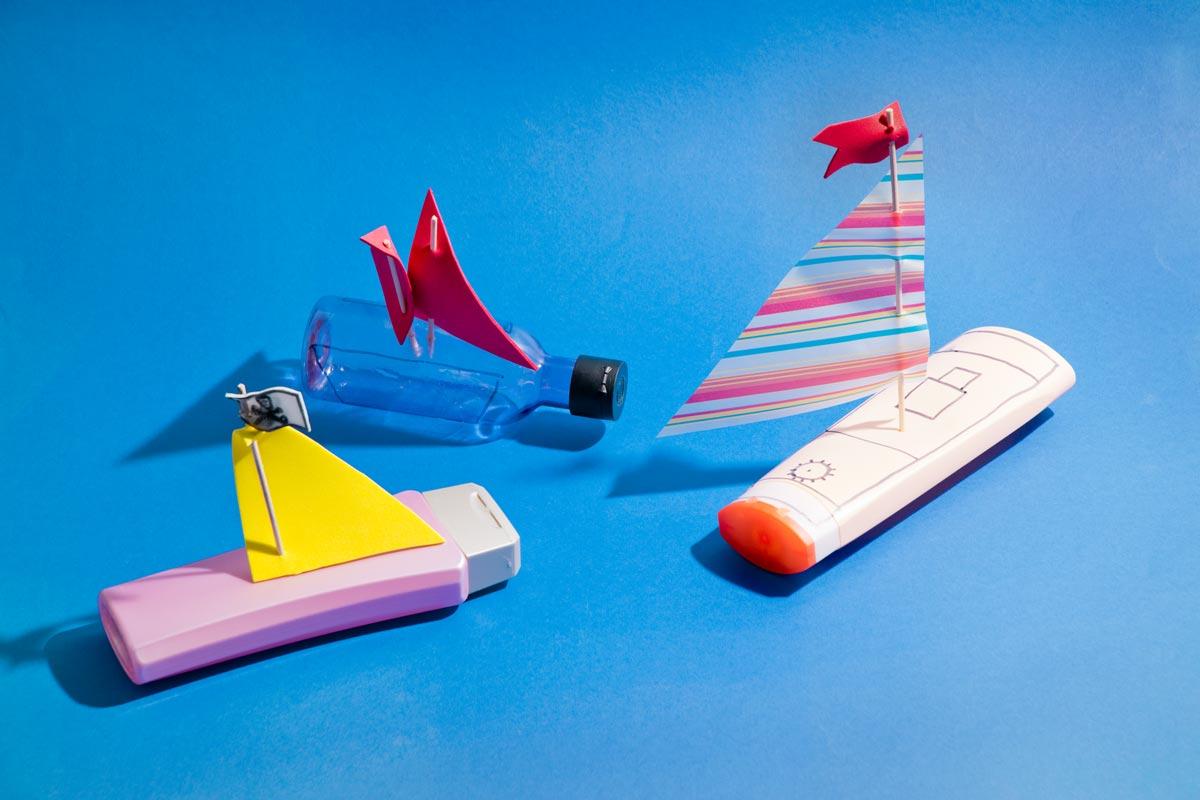 Badespielzeug Schiffchen