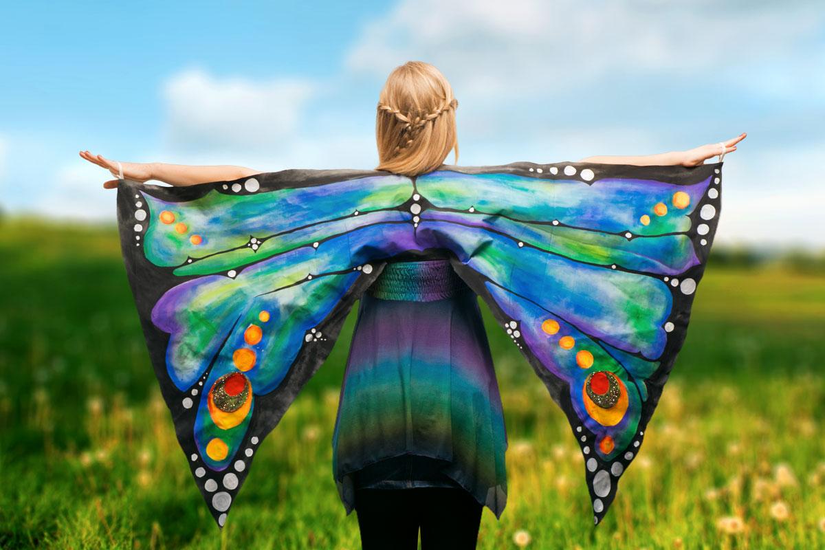 Schmetterlingsflügel basteln