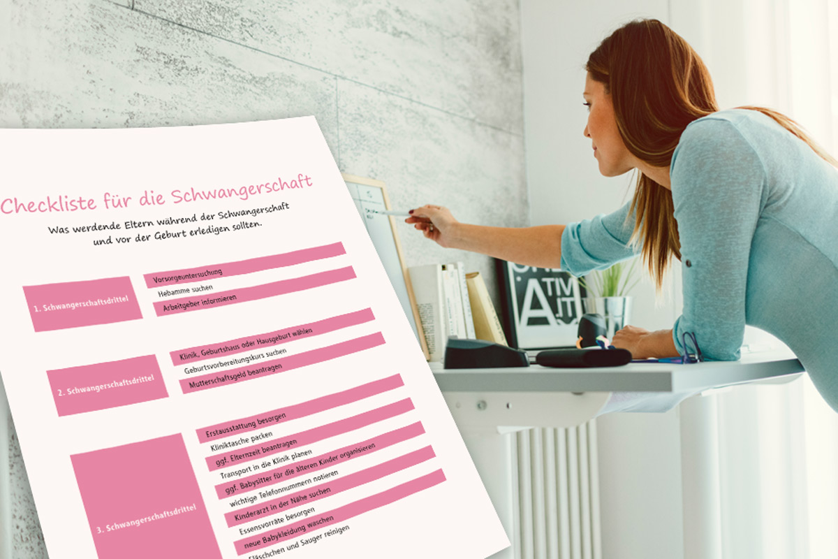 Checkliste Schwangerschaft
