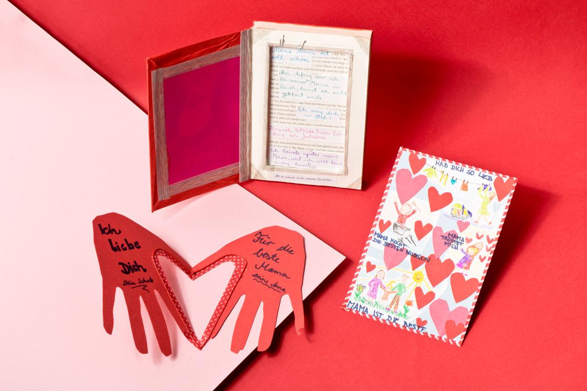 Valentinstag Karte Von Herzen Selbst Gemacht Familie De
