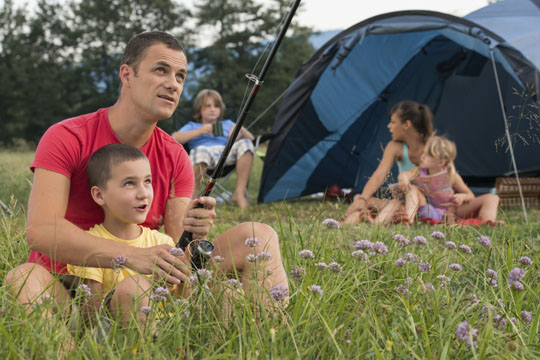 Urlaub mit Kindern: Camping