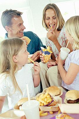 Fast-Food für Kinder: Familie