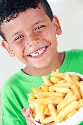 Fast-Food für Kinder: Pommes
