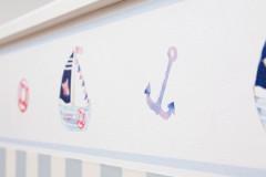 Kinderzimmerbordüre mit Segelschiffen