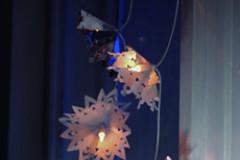 Leuchtende Schneekristalle