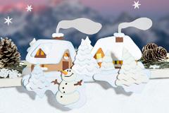 Kleine Schneelandschaft