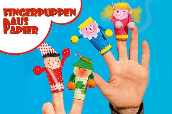 Fingerpuppen basteln: Anleitung mit papier
