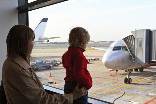 Ausflug mit Kindern: Flughafen