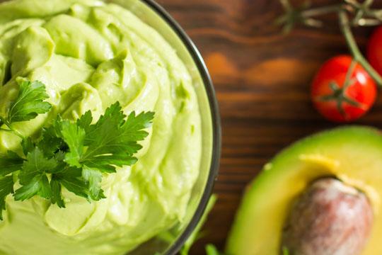 Kinderfrühstück: Avocado