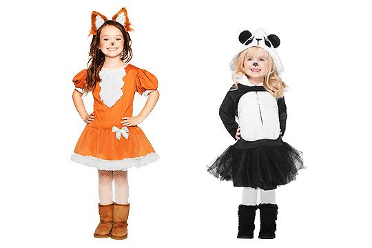 Kinderkostüme Fuchs und Panda