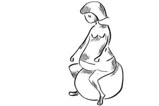 Geburtsposition Sitzen