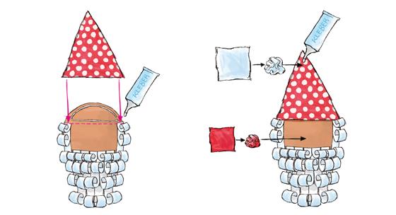 Geschenkanhänger Nikolaus fertigstellen