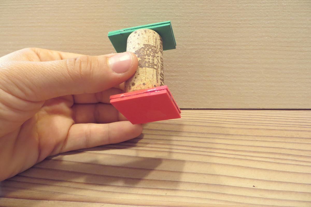 Geschenkpapier gestalten mit Stempel