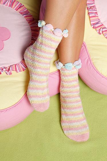 Gestreifte Socken in pastell