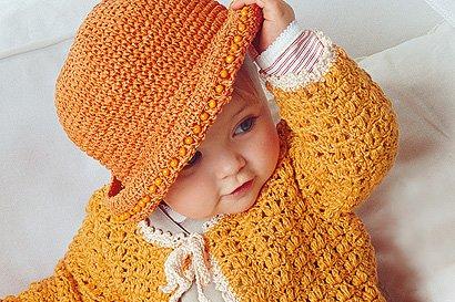 Orange Babyjacke Häkeln Anleitung Und Häkelschrift Familiede