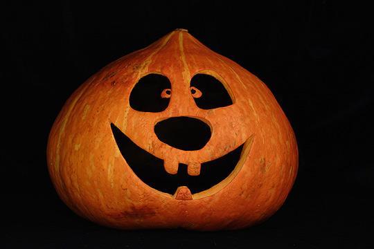 Fröhlicher Halloweenkürbis