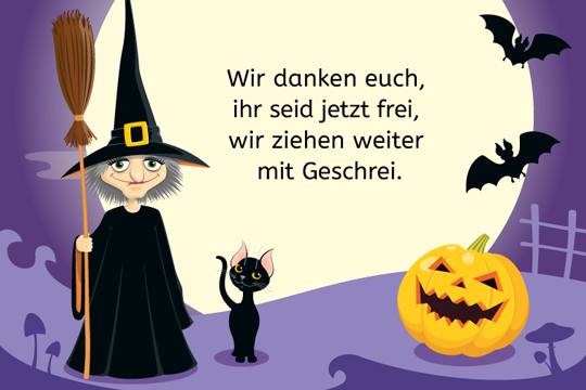 halloween spruch wir danken euch bilder. Black Bedroom Furniture Sets. Home Design Ideas